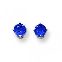 Sapphire Earrings in 14k White Gold