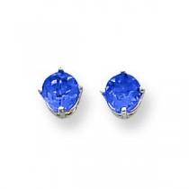 Tanzanite Earrings in 14k White Gold