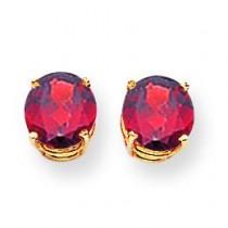 Garnet Earrings in 14k Yellow Gold