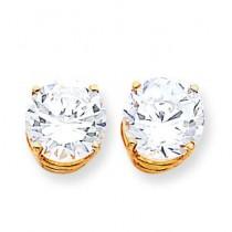 Cubic Zirconia Earrings in 14k Yellow Gold