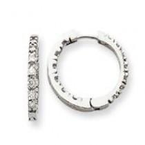 Diamond Hinged Hoop Earrings in 14k White Gold (0.91 Ct. tw.) (0.91 Ct. tw.)