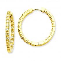 Diamond Hinged Hoops Mtg in 14k Yellow Gold