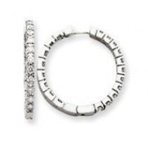 Diamond Hinged Hoop Earrings in 14k White Gold (1.9 Ct. tw.) (1.9 Ct. tw.)