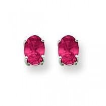 Ruby Earrings in 14k White Gold