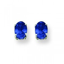 Sapphire Earrings in 14k White Gold