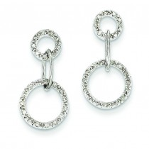Diamond Circle Earrings in 14k White Gold (0.19 Ct. tw.) (0.19 Ct. tw.)