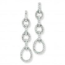 Diamond Teardrop Earrings in 14k White Gold