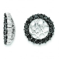 Black Diamond Earring Jackets in 14k White Gold