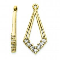 Diamond Earrings Jacket in 14k Yellow Gold (0.35 Ct. tw.) (0.35 Ct. tw.)