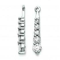 Diamond Earrings Jacket in 14k White Gold (0.66 Ct. tw.) (0.66 Ct. tw.)