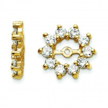 Diamond Earrings Jacket in 14k Yellow Gold (0.82 Ct. tw.) (0.82 Ct. tw.)