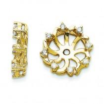 Diamond Earrings Jacket in 14k Yellow Gold (0.064 Ct. tw.) (0.064 Ct. tw.)