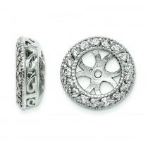 Diamond Earrings Jacket in 14k White Gold (0.476 Ct. tw.) (0.476 Ct. tw.)