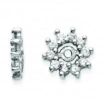 Diamond Earrings Jacket in 14k White Gold (0.32 Ct. tw.) (0.32 Ct. tw.)