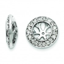 White Diamond Earrings Jackets in 14k White Gold (0.31 Ct. tw.)