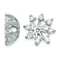 Diamond Earrings Jacket in 14k White Gold (0.56 Ct. tw.) (0.56 Ct. tw.)