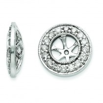 Diamond Earrings Jackets in 14k White Gold (0.66 Ct. tw.)