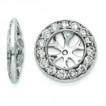 Diamond Earring Jackets in 14k White Gold