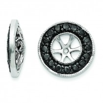 Black Diamond Earrings Jackets in 14k White Gold (0.34 Ct. tw.)