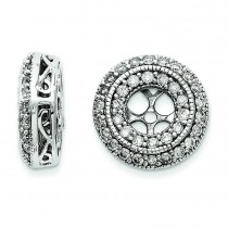 Diamond Earring Jackets in 14k White Gold