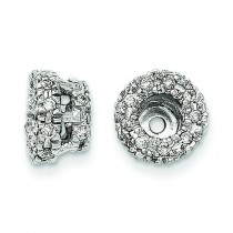 Diamond Earring Jacket in 14k White Gold
