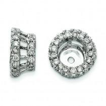 Diamond Earring Jacket in 14k White Gold