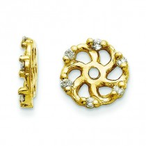 Diamond Earrings Jacket in 14k Yellow Gold (0.048 Ct. tw.) (0.048 Ct. tw.)