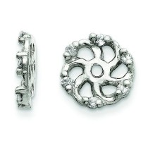 Diamond Earrings Jacket in 14k White Gold (0.048 Ct. tw.) (0.048 Ct. tw.)