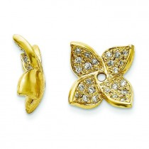Diamond Earring Jacket in 14k Yellow Gold