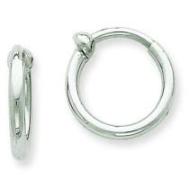 Non-Pierced Hoop Earrings in 14k White Gold