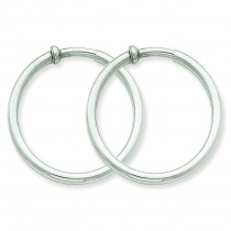 Non-Pierced Earrings Hoops Earrings in 14k White Gold