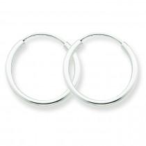 Endless Hoop Earrings in 14k White Gold