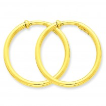 Non-Pierced Hoops Earrings in 14k Yellow Gold