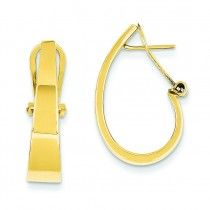 J-Hoop Click-in Back Post Earrings in 14k Yellow Gold
