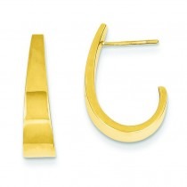 Med J Hoop Earrings in 14k Yellow Gold