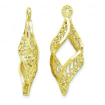 Filigree Swirl Earrings Jackets in 14k Yellow Gold