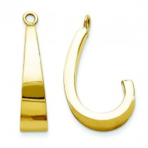 J-Hoop Earrings Jackets in 14k Yellow Gold
