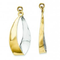 Reversible Dangle Earrings Jackets in 14k Yellow Gold