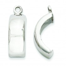Earring Jackets in 14k White Gold