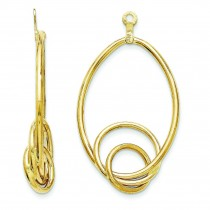 Fancy Teardrop Earrings Jackets in 14k Yellow Gold