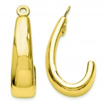 J Hoop Earrings Jackets in 14k Yellow Gold