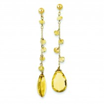 Citrine Dangle Earrings in 14k Yellow Gold