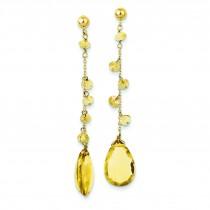Citrine Dangle Earrings in 14k Yellow Gold
