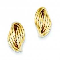 Fancy Post Earrings in 14k Yellow Gold
