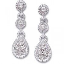 Diamond Earring in 14k White Gold (0.125 Ct. tw.) (0.125 Ct. tw.)