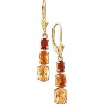 Multicolor Gemstone Earrings in 14k Yellow Gold