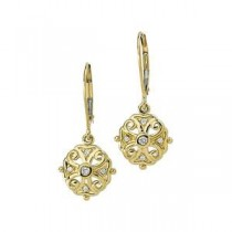 Diamond Filigree Earrings in 14k Yellow Gold (0.1 Ct. tw.) (0.1 Ct. tw.)
