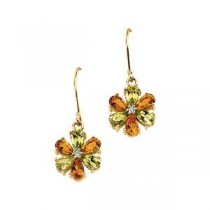 Gemstone Diamond Earrings in 14k Yellow Gold (0.04 Ct. tw.) (0.04 Ct. tw.)