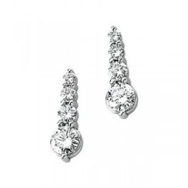 Journey Diamond Earring in 14k White Gold (1 Ct. tw.) (1 Ct. tw.)