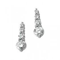 Journey Diamond Earring in 14k White Gold (1 Ct. tw.) (1 Ct. tw.)